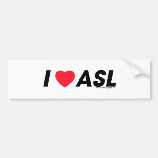 I heart ASL Bumper Sticker