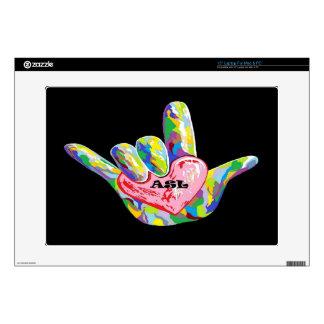 I Heart ASL Laptop Skin