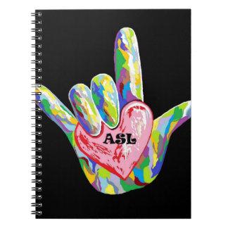 I Heart ASL Spiral Notebook