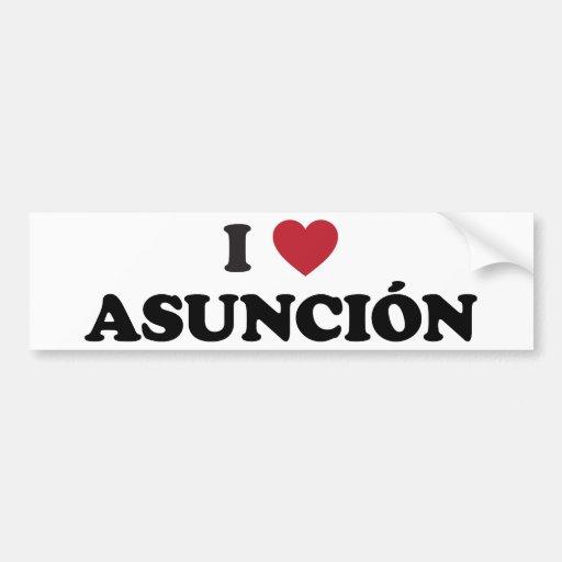 I Heart Asuncion Paraguay Car Bumper Sticker