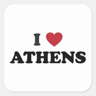 I Heart Athens Greece Square Sticker