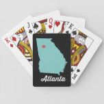 "I heart Atlanta. Georgia playing cards - fun gift<br><div class=""desc"">Play around with different background colors on this set of playing cards featuring Atlanta,  Georgia. A fun little hostess gift or birthday goodie. Other cities available upon request - just ask!</div>"