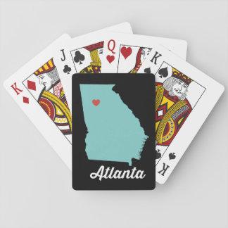 I heart Atlanta. Georgia playing cards - fun gift