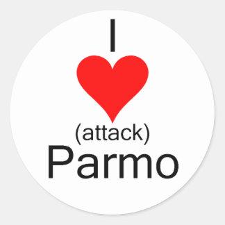 I Heart Attack Parmo Classic Round Sticker