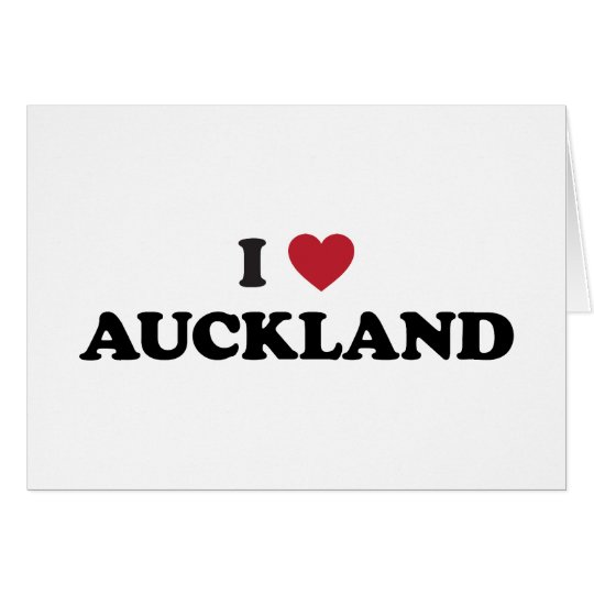 I Heart Auckland New Zealand Products Card