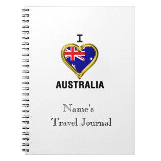 I HEART AUSTRALIA SPIRAL NOTEBOOK