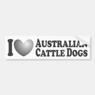 I Heart Australian Cattle Dogs - Bumper Sticker Car Bumper Sticker