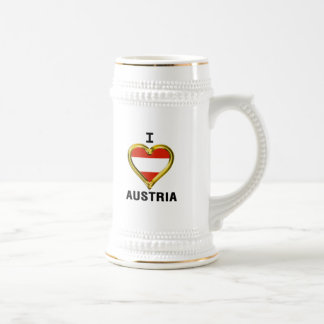 I HEART AUSTRIA BEER STEIN