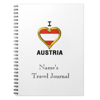 I HEART AUSTRIA NOTEBOOK