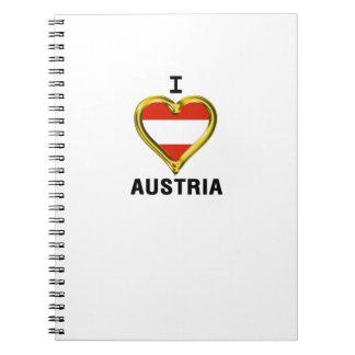 I HEART AUSTRIA SPIRAL NOTEBOOK