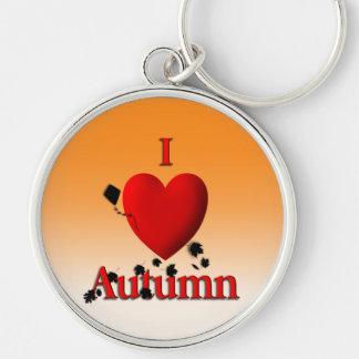 I Heart Autumn Keychain