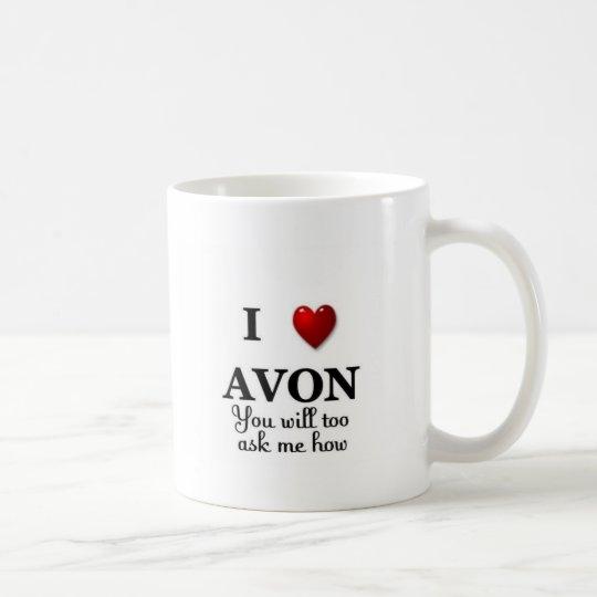 i heart avon - ask how coffee mug