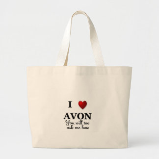 i heart avon - ask how large tote bag