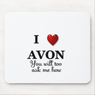 i heart avon - ask how mouse pad