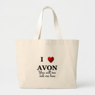 i heart avon ask me how large tote bag