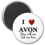 i heart avon ask me how magnets