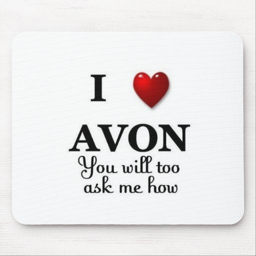 i heart avon ask me how mouse pad