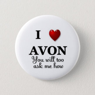 i heart avon ask me how pinback button