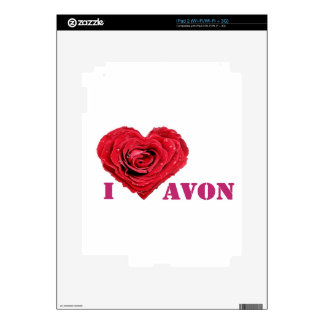 I Heart Avon Decal For The iPad 2