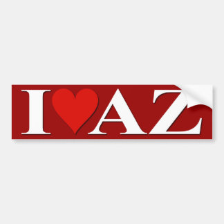 I Heart AZ! Car Bumper Sticker