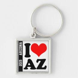 I Heart AZ Keychain