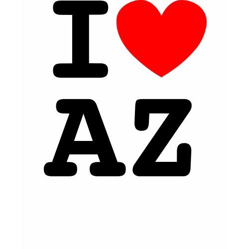 I Heart AZ Shirt zazzle_shirt