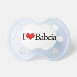 I heart Babcia Grandmother Polish Pacifier BooginHead Pacifier