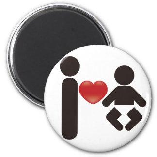 I Heart Baby 2 Inch Round Magnet