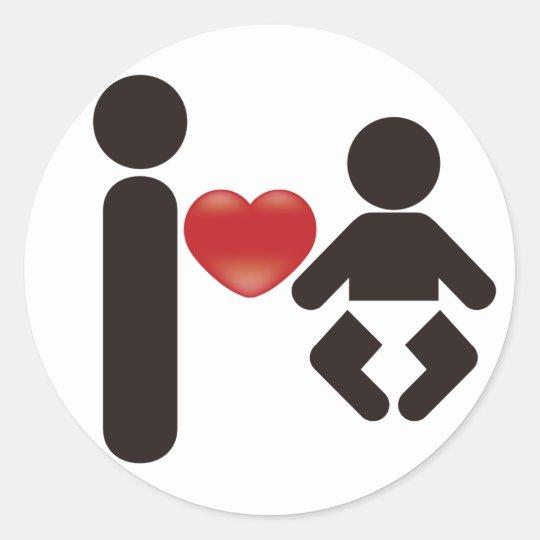 I Heart Baby Classic Round Sticker