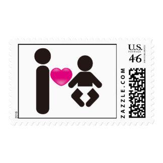 I Heart Baby Postage
