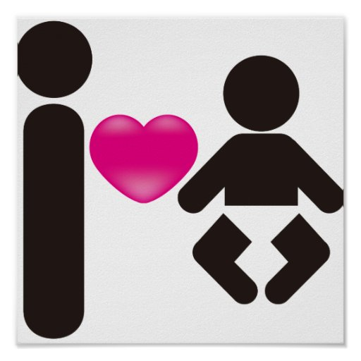 I Heart Baby Poster