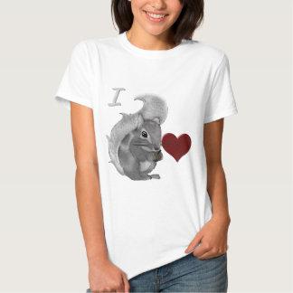 I Heart Baby Squirrels Fuzzy Animal T-Shirt