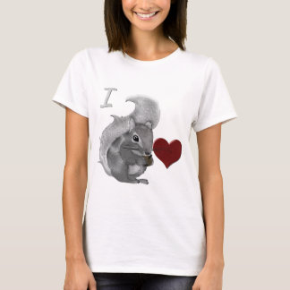 I Heart Baby Squirrels Fuzzy Animal T-Shirt