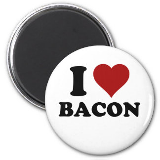 I HEART BACON 2 INCH ROUND MAGNET