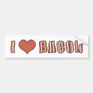 I Heart Bacon Bumper Sticker 001