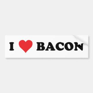 I Heart Bacon Car Bumper Sticker