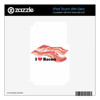 I Heart Bacon iPod Touch 4G Skins