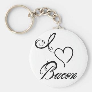 I Heart Bacon Keychain