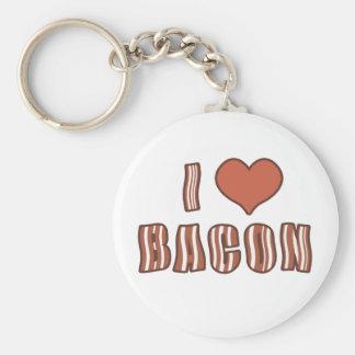 I Heart Bacon Keychain 001