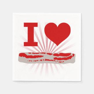 I Heart Bacon Paper Napkins