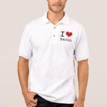 I heart Bacon Polo Shirt