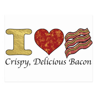 I Heart Bacon Postcard