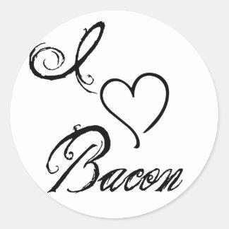 I Heart Bacon Round Stickers