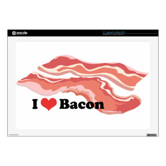 "I Heart Bacon Skin For 17"" Laptop"