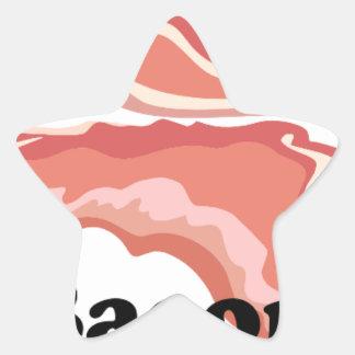 I Heart Bacon Star Sticker