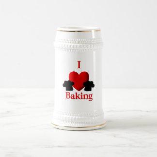 I Heart Baking Beer Stein