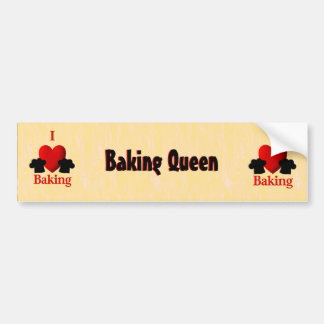 I Heart Baking Bumper Sticker