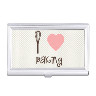 I Heart Baking Business Card Holder