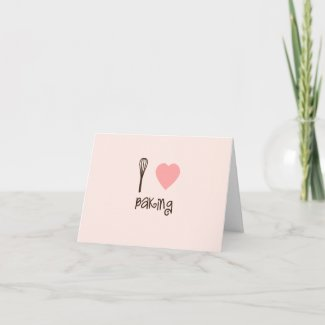I Heart Baking Note Card Invitation card