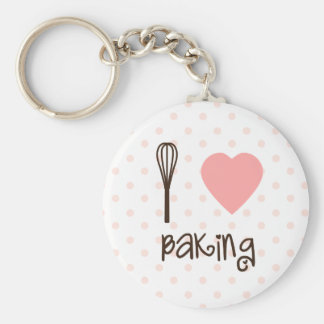 I heart baking whisk Key Chain